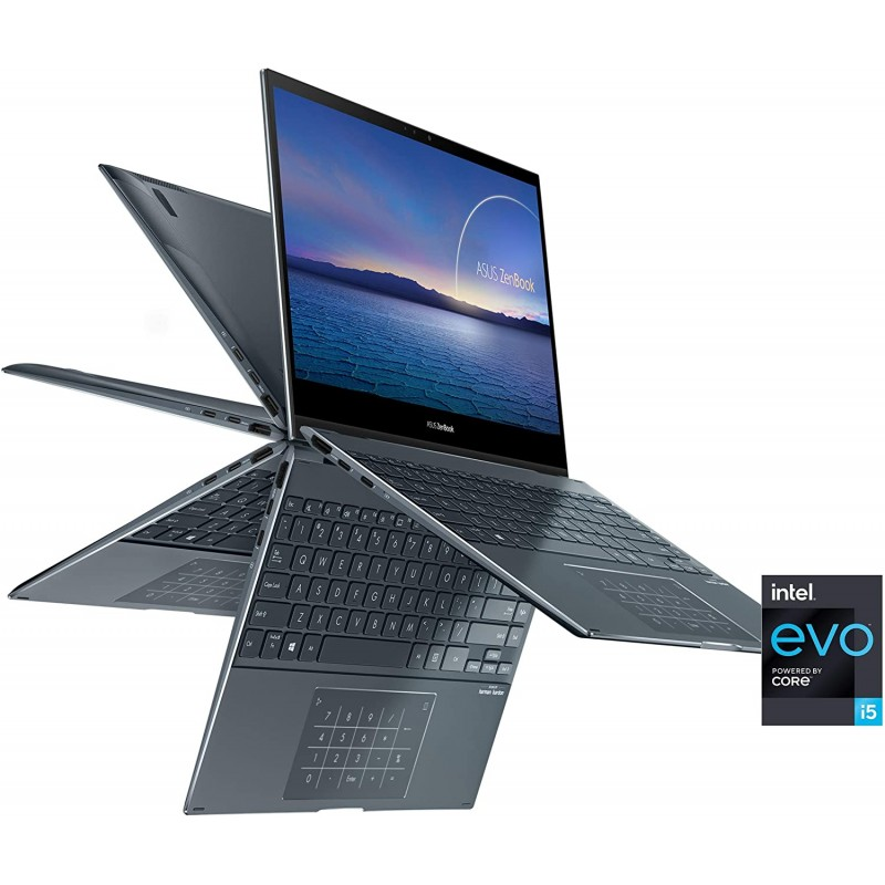 """[해외] ASUS ZenBook Flip 13 Ultra Slim Convertible Laptop  13.3"""" OLED FHD Touch Display  Intel Evo Platform"""