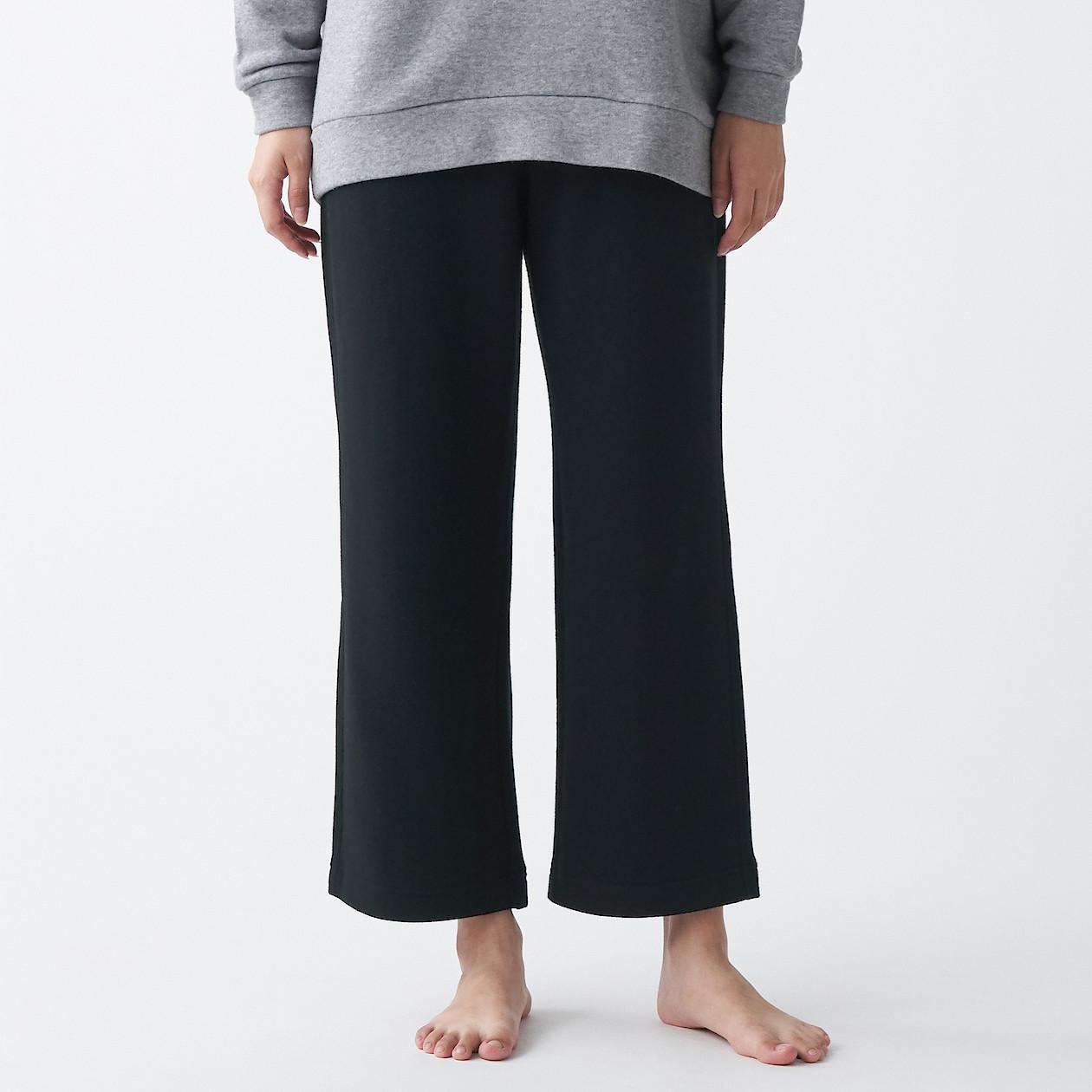 무인양품 MUJI 여성 스트레치 테리 와이드 팬츠 FDG54A0A  L~XL  블랙