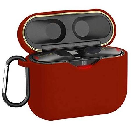 [해외] WQNIDE-Soft 실리콘 Carrying 케이스 커버 for 소니 WF-1000XM3 무선 Earbud  보호 스킨 커버 with Carabin