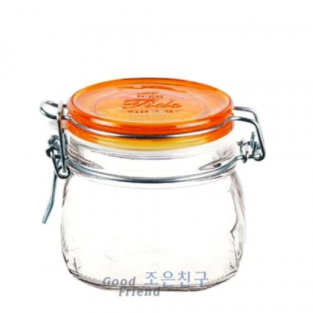 (색상 : 스카이블루) 보르미올리 피도밀폐용기 500ml (오렌지) 예쁜유리병 밀폐용기 잼병 밀폐유리병 투명밀폐 AHJ_2377429
