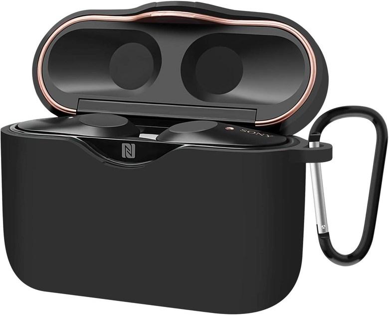 [해외] 예상수령일 2-6일 이내 AMOVO Sony WF-1000XM3 케이스 실리콘 고급 WF-1000XM3 커버 보호 케이스 이어폰 수