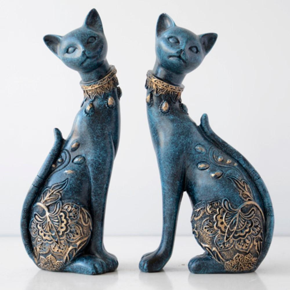[해외] 고대 이집트 아누비스 신 페르시아 캣츠 고양이 거실 조각상 장식품 소품 인테리어  G