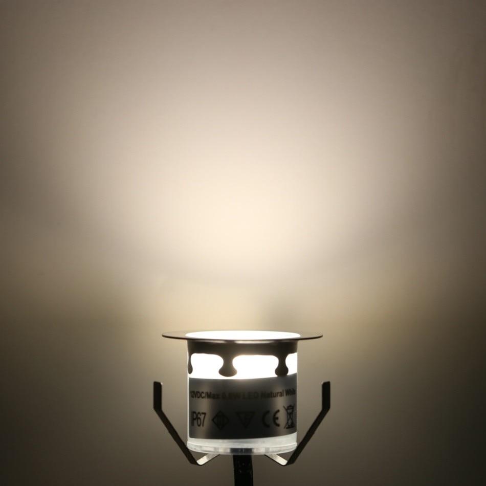 [해외] 10PCS 32mm LED 갑판 조명 6W 500LM SMD2835 야외 정원 통로 장식 지하 방수 스포트 라이트에 대 한 EU/US/UK 플러그  {발광 색상:WHITE_1}