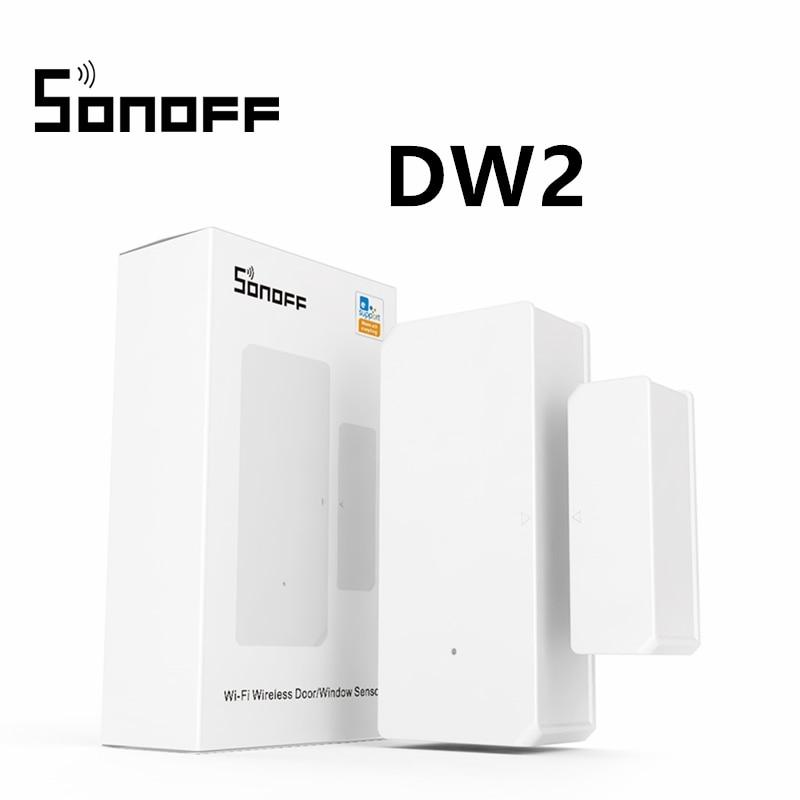 [해외] SONOFF DW2 WiFi 무선 도어 윈도우 센서 감지기 앱 알림 경고는 e WeLink Alexa Smart Home Security와 함께 작동합니다.