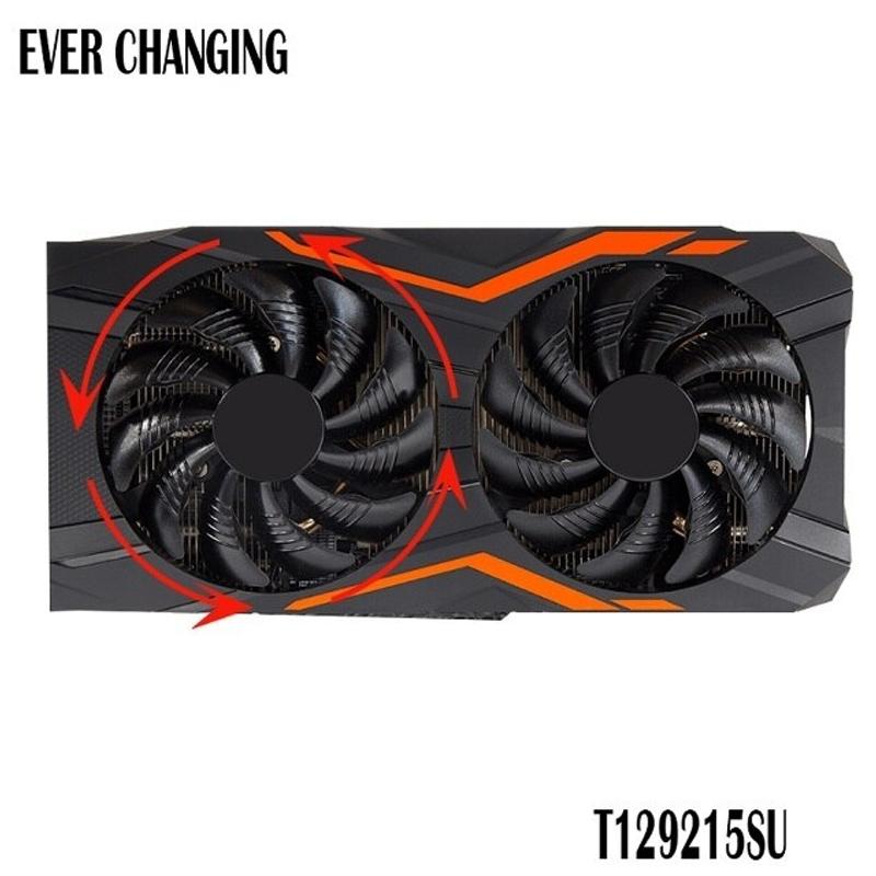 [해외] 공냉 cpu 저소음 쿨러 수냉식열교환기 기가 바이트 GeForce REDEON AORUS RX580 570 GIGABYTE GV RX5 비디오 카드 쿨러 팬용 새로운 88MM  {