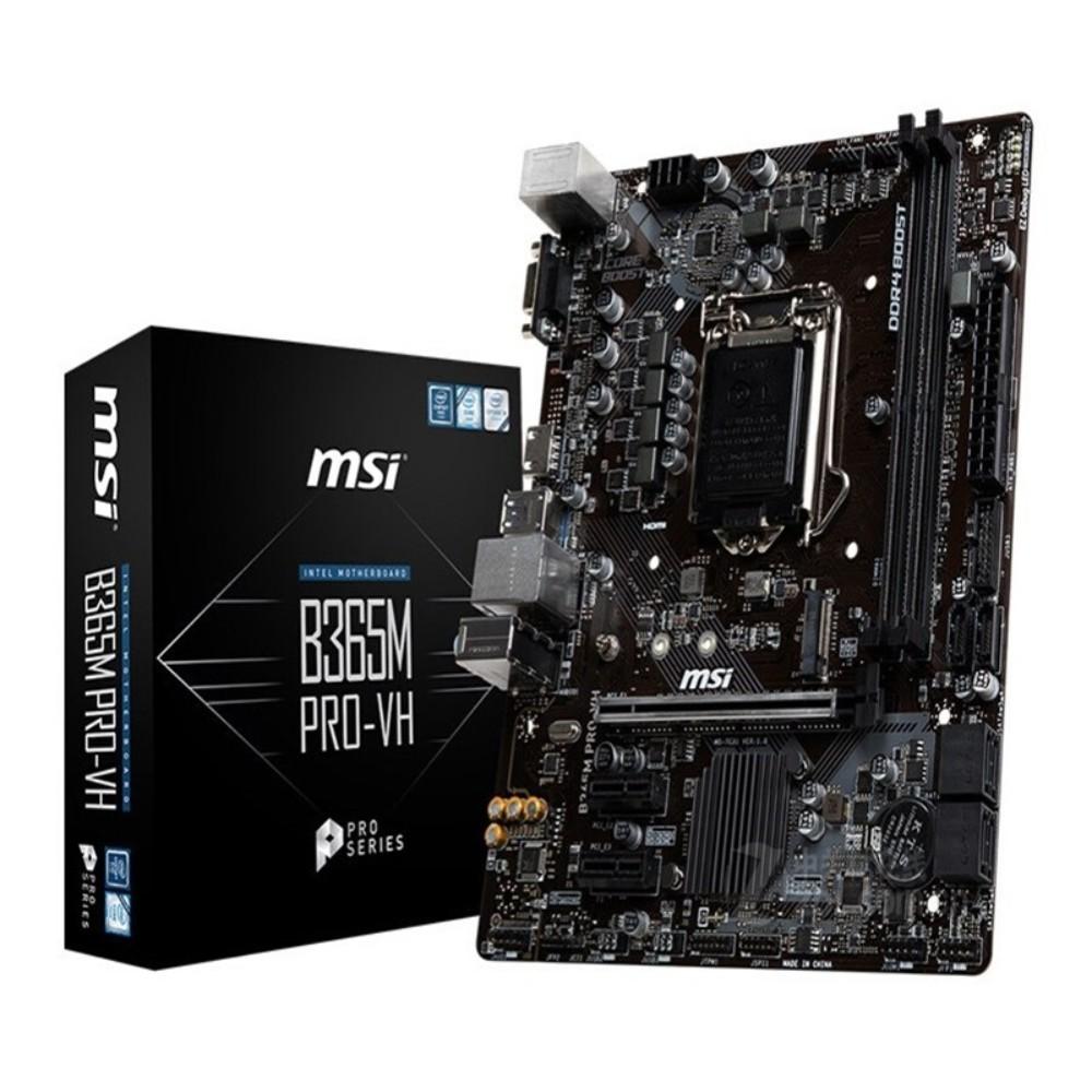 [해외] MSI B360m 박격포 MORTAR 인텔 CPU 메인보드  연한 노란색