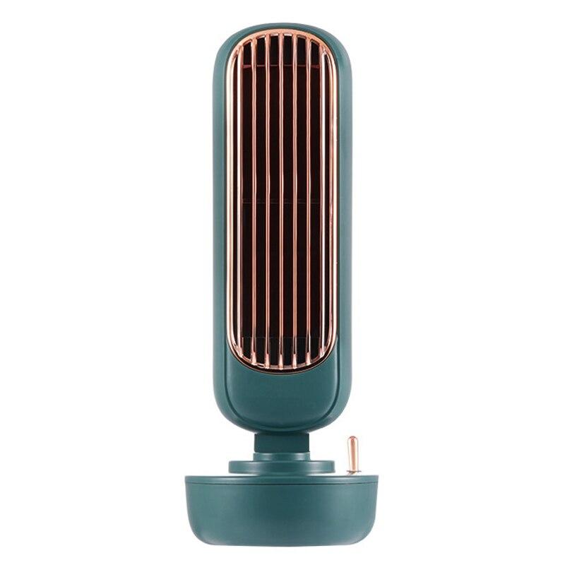 [해외] 2021 새로운 공기 냉각기 팬 다기능 탁상용 침묵하는 에어 컨디셔너 가습기 본사 USB Leafless 냉각 팬