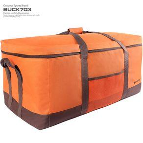 BUCK703 오렌지톡 대용량 캠핑가방, 오렌지 + 브라운, 1개