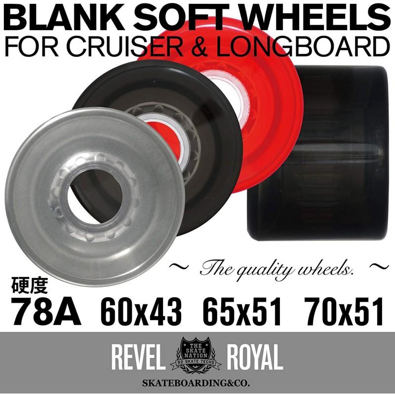 [해외] 레벨 로얄 (Revel Royal) 스케이드 소프트 휠 78A 65 밀리 클리어 레드 서프 스케이트 타기 블랭크 무지