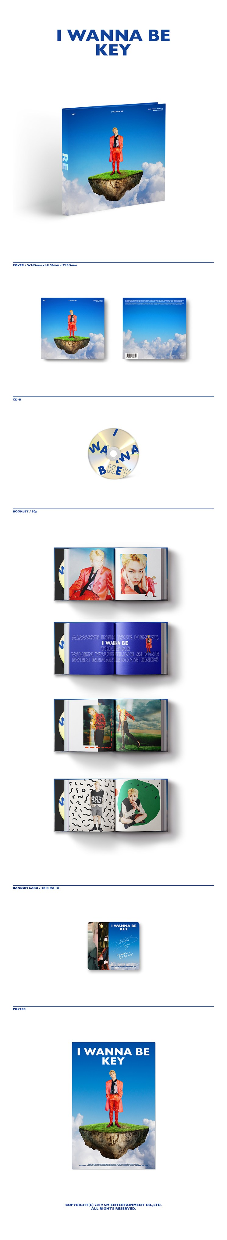 [ K-POP ] [First Press] SHINEE : KEY - Repackage Album Vol.1 [I Wanna Be]